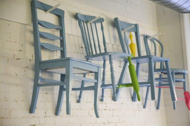 IDEA- find old chairs (not matching) and paint them the same colors.