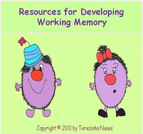 """Resources to improve working memory  ✮✮(^.^) Thanks, Pinterest Pinners, for stopping by, viewing, re-pinning, & following my boards.  Have a beautiful day! ^..^ and """"Feel free to share on Pinterest ^..^ #interestingthoughts #interestingtidbits, #management"""