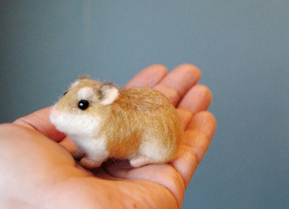 Robo nain Hamster Hamster de feutrée à laiguille par Willane