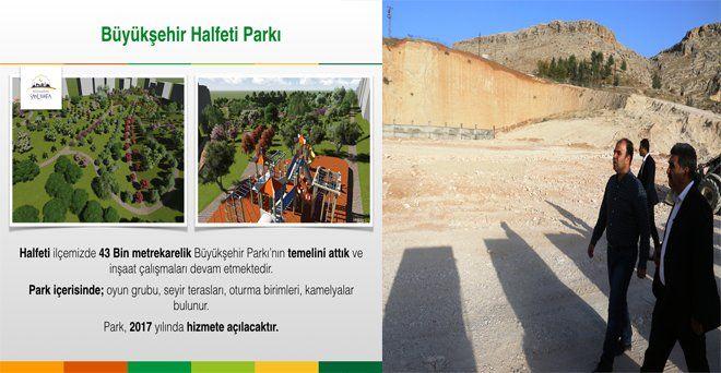 #büyükşehirheryerde Başkan Çiftçi, Saklı Cennet Halfeti ilçemizde 43 Bin metrekarelik modern parkımızın yapımı devam ediyor.Halfeti yeni yaşam alanına kavuşacak.