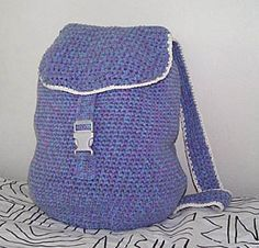 Crochet backpack free pattern.