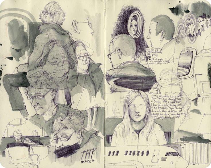 Ilustrações em moleskine de Pat Perry – BLCKDMNDS