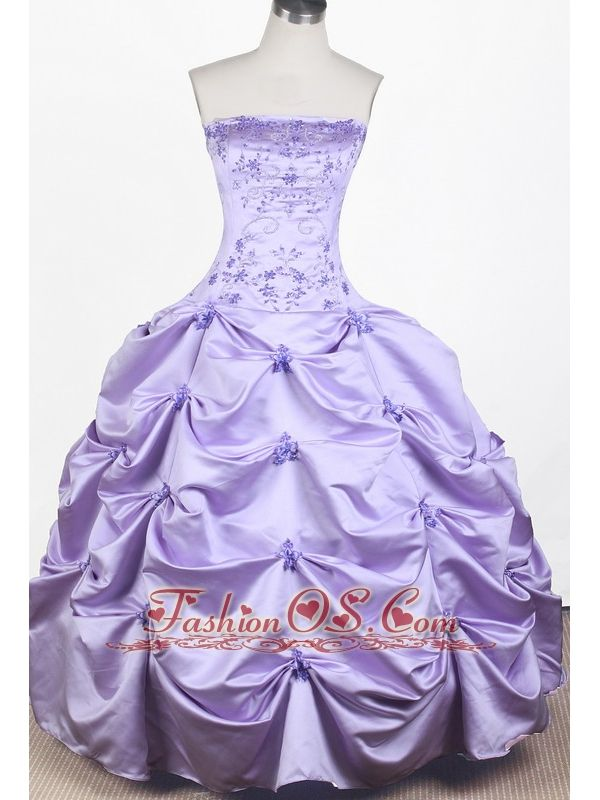 Elegant Embroidery With Beading Ball Gown Strapless Floor-length Little Girl Pageant Dress- $155.39  http://www.fashionos.com  http://www.facebook.com/quinceaneradress.fashionos.us  Adorable Princess Pageant Dress . This pageant gown has beaded empire bust, and dropped waistline. Completing the look of this pageant dress is a ball gown pick up skirt. Cute and affordable dress perfect for your pageant.