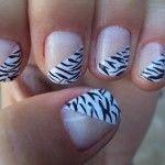 unhas de zebra 17 150x150 Unhas de Zebra Como fazer passo a passo