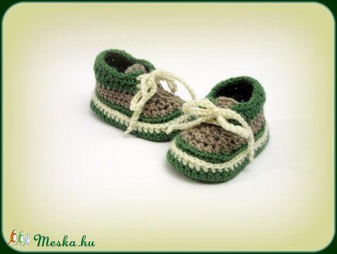 """""""Oliver"""" horgolt baby cipőcske (avonlea0) - Meska.hu"""
