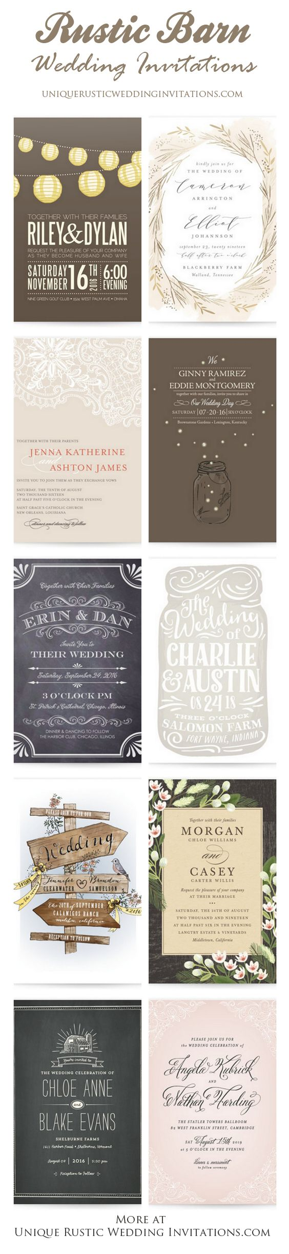 The 11 best Lace Wedding Invitations images on Pinterest | Country ...