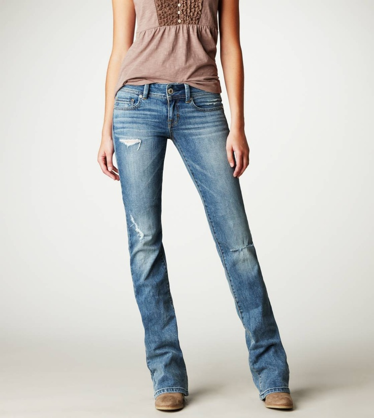Original Boot Jean - my favorite jeans - love the way American Eagle skinny bootcut jeans fit
