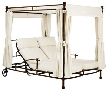 Patio Furniture mediterranean outdoor chaise lounges