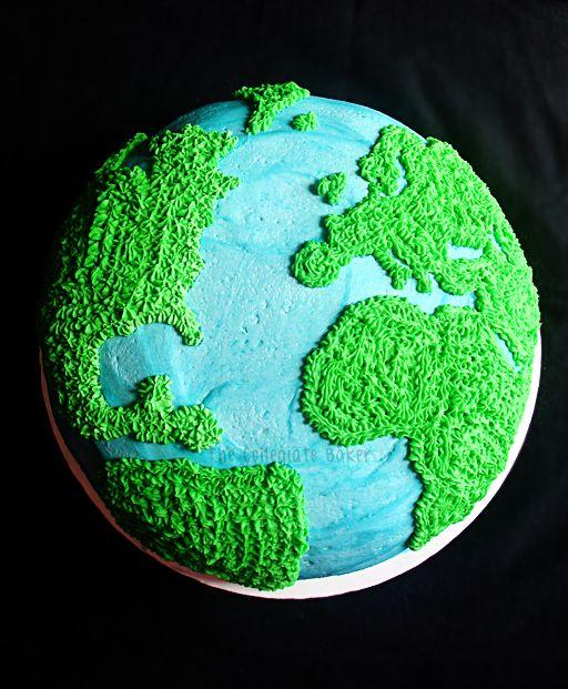 The Collegiate Baker: How To Make a Globe Cake
