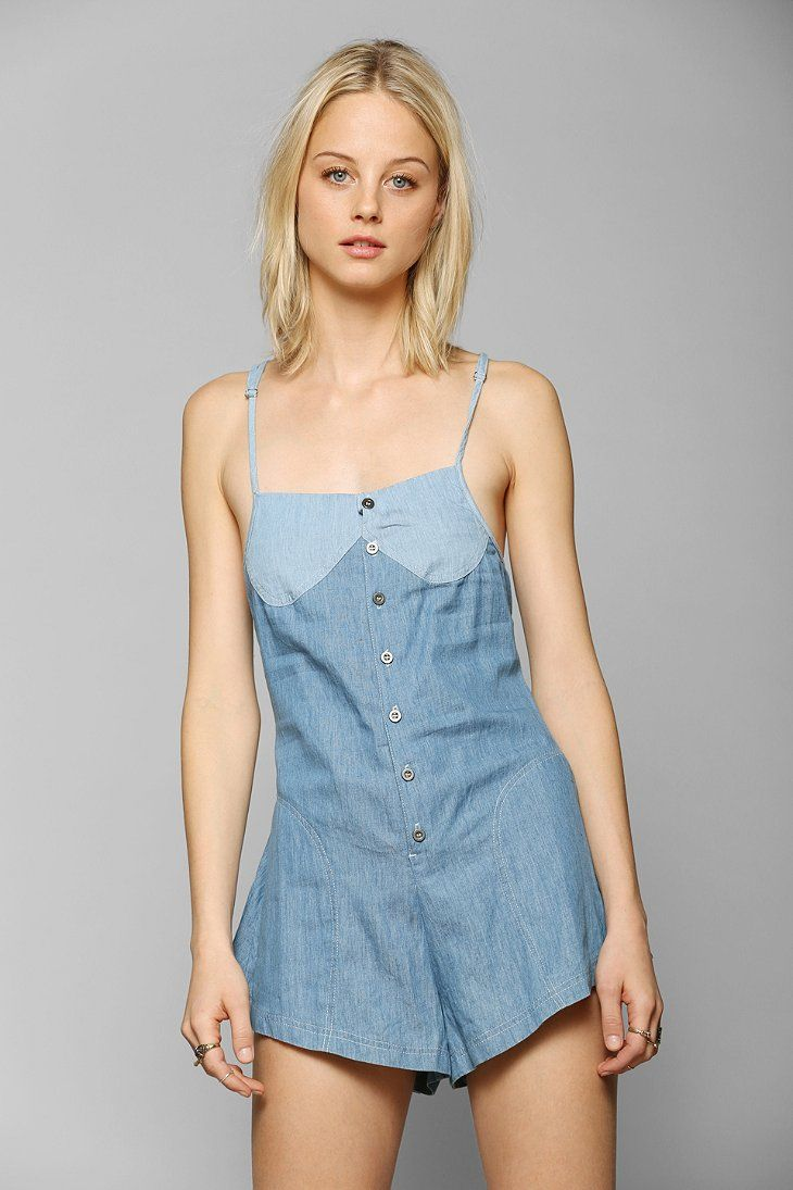 One Teaspoon Smokey Chambray Romper | urban outfitters ...