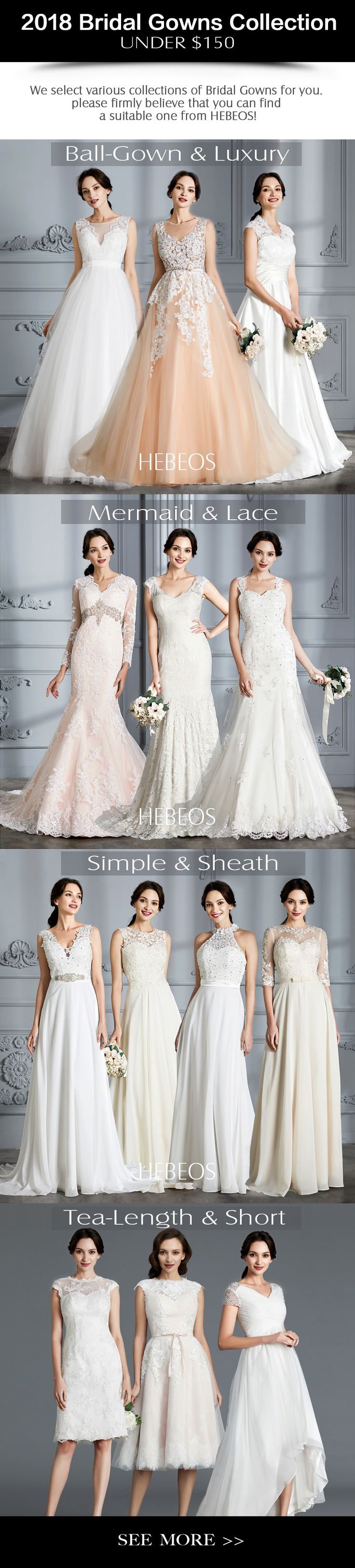 The more the merrier! Which bridal dress & wedding dresses is your favorite? Get your favorite cheap wedding dress in HEBEOS. 2018 HEBEOS wedding collection on sale!