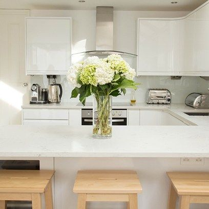 Attractive Small White Kitchen Quartz Worktop Part 26
