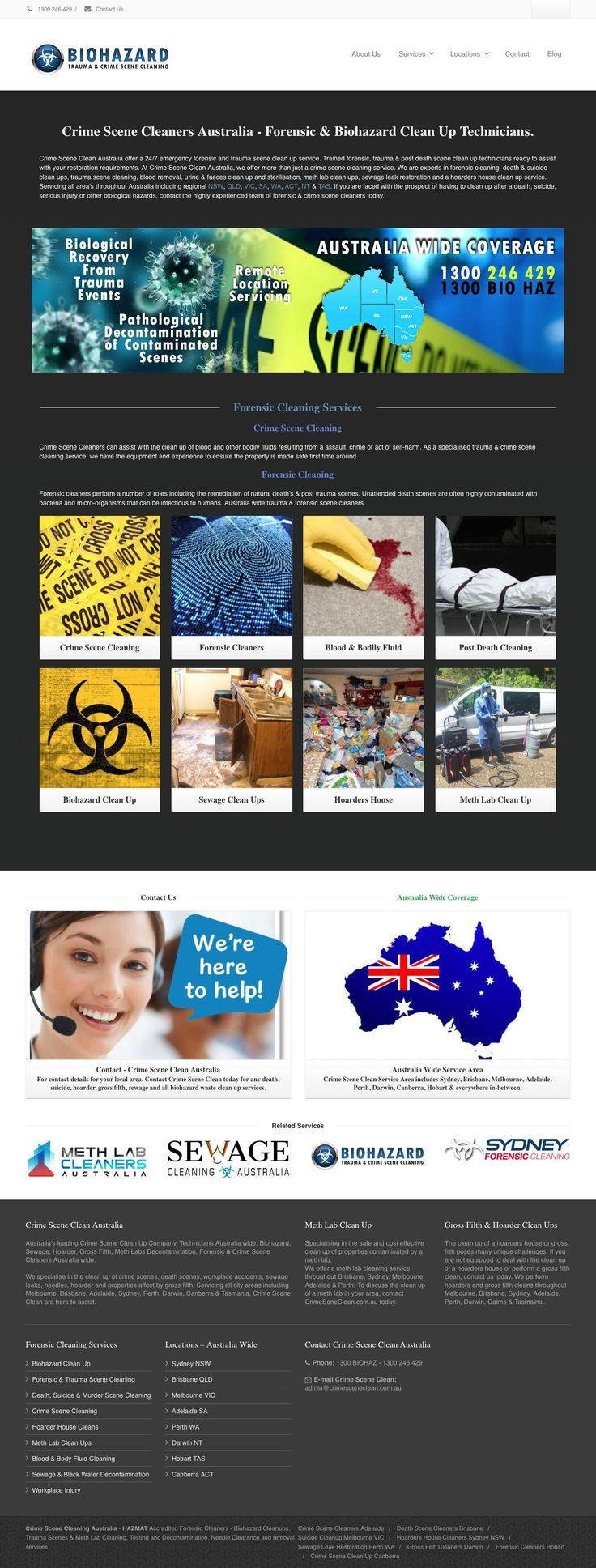 crimesceneclean.com.au - Crime Scene Clean   Forensic & Biohazard Cleaning Services - captured Oct. 20, 2016
