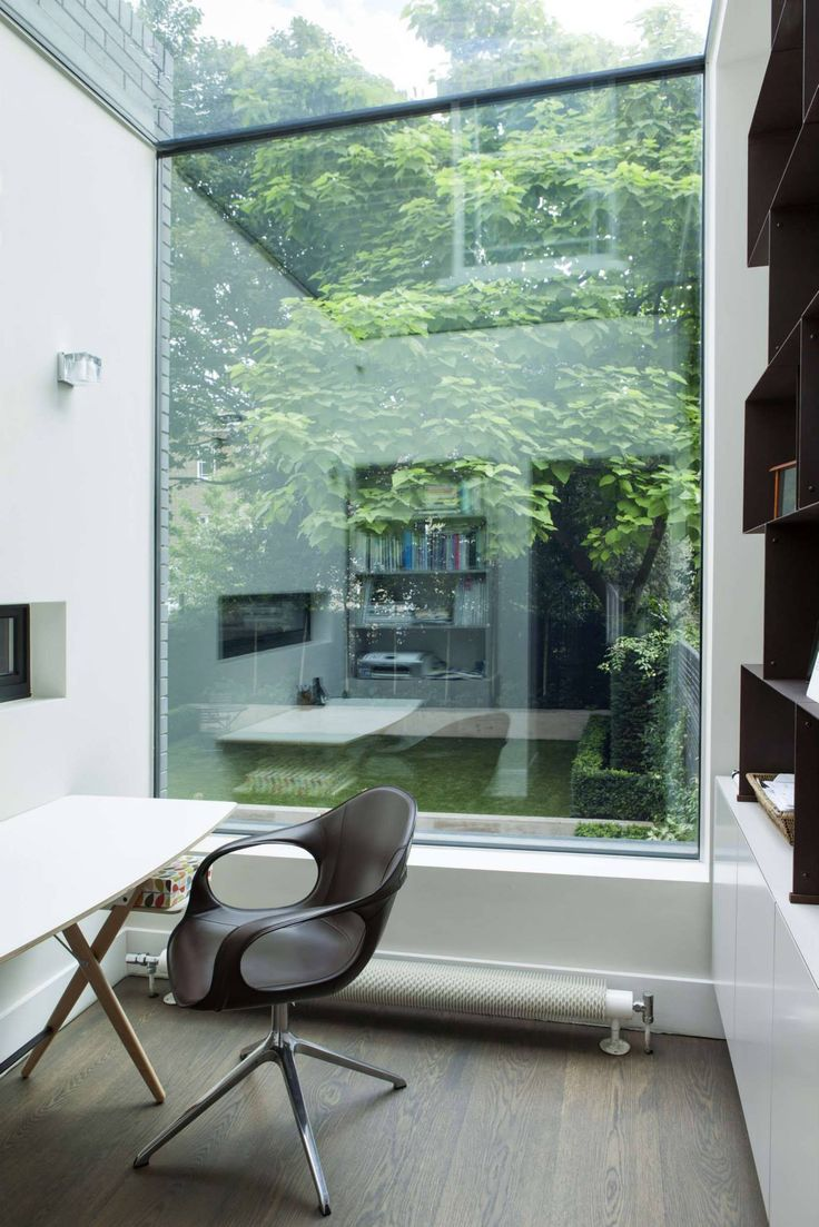 #home_office with a #courtyard By #Du_Graf_Associates