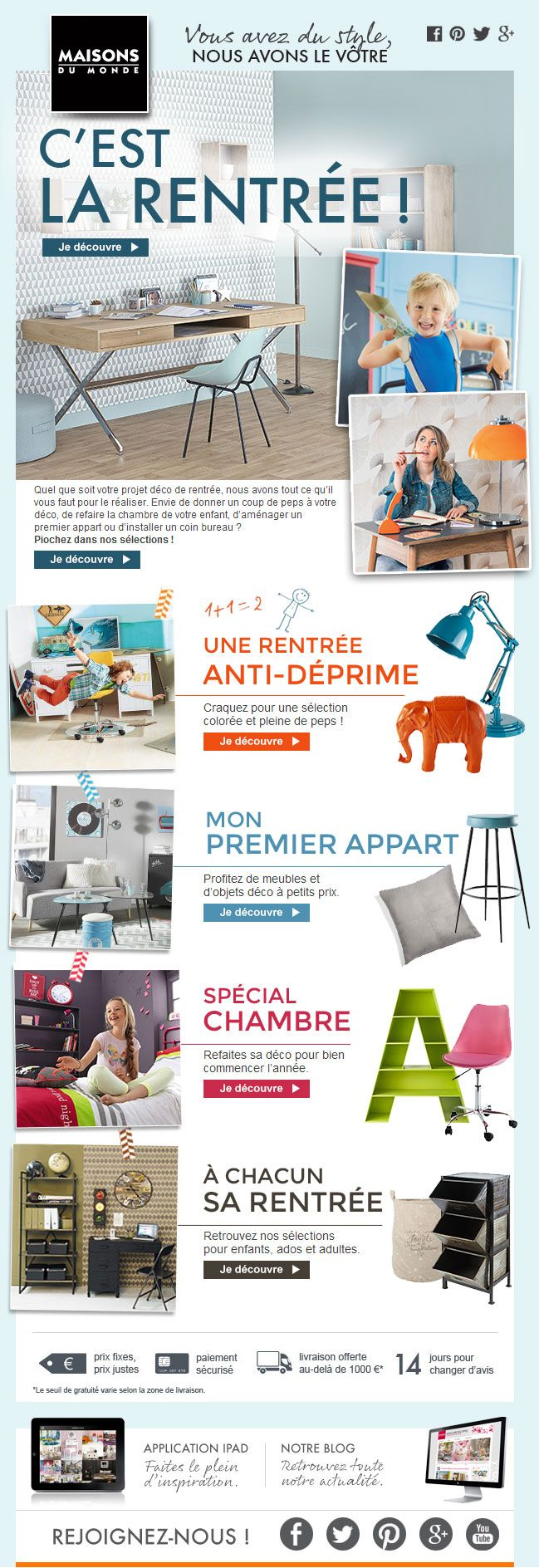trendy rentre quoi ressemblera la vtre maisons du monde sept with coupon reduction maison du monde. Black Bedroom Furniture Sets. Home Design Ideas