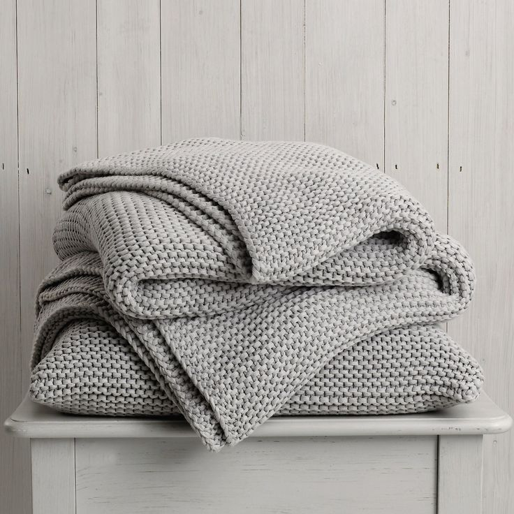 Eyeing up blankets. Clearly getting old.    Buy Bedroom > Bedspreads & Cushions > Grafton Grey Throw & Cushion from The White Company