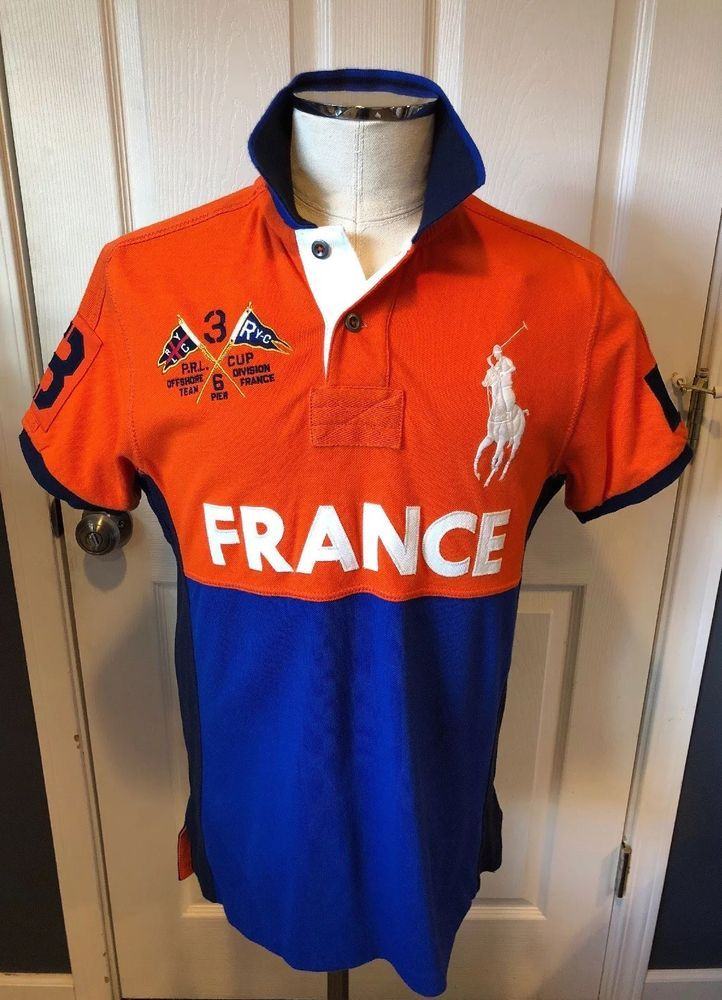 fd24d91c0f57d Rare Polo Ralph Lauren Big Pony Custom Fit Medium Country Polo France NWT   PoloRalphLauren  PoloRugby