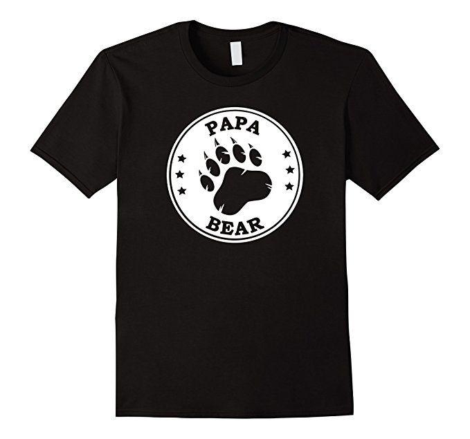 Papa Bear Shirt - Papa Father's Day Shirts with Bear Paw Print ~ Amazon Prime