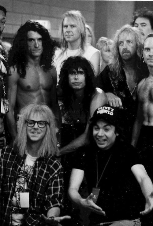 Wayne's World - Mike Myers, Dana Carvey and Aerosmith