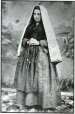 1860 Photo of St Bernadette.