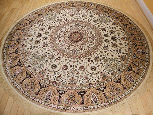Stunning Silk Rug Persian Traditional Area Rugs Round Rug... https://www.amazon.com/dp/B014ORQNM8/ref=cm_sw_r_pi_dp_x_bF-hybK5VVRPD