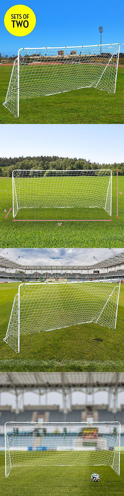 sporting goods: (2) Set 12 X 6 Ft Portable Football W Net Soccer Goal Outdoor Sport Training -> BUY IT NOW ONLY: $86.9 on eBay!