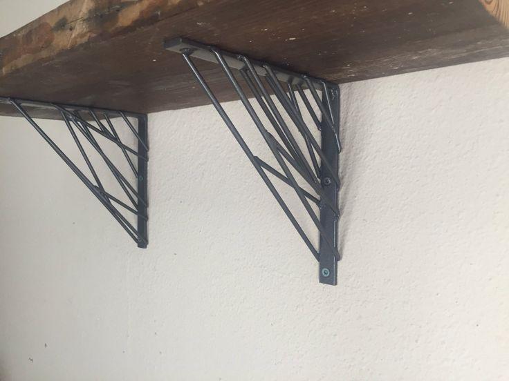 Industrial Modern wall shelf brackets