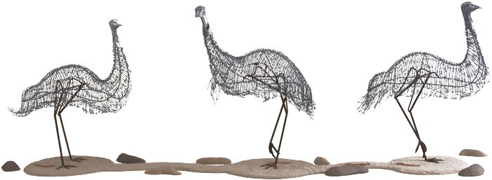 Barbed-wire emus by Laurie Nilsen