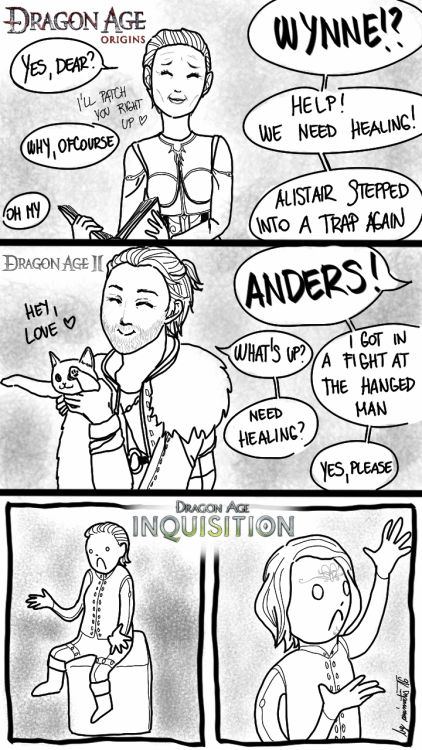 I always used Solas as my spirit healer, but it's not the same...