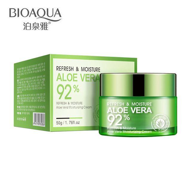 BIOAQUA Refresh 92% Aloe Vera Deep Whitening Face Cream Essence Hydrating Moisturizing Anti Wrinkle Anti-Aging Day Creams 50g