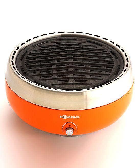 Orange Portable Charcoal Grill