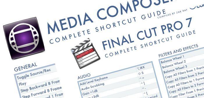 Atajos de teclado en AVID Media Composer y Final Cut