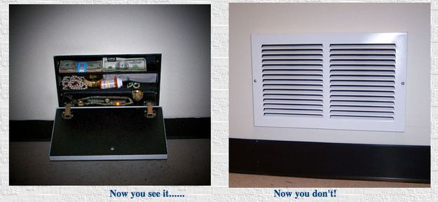 DIY Air Vent Vault Kit | 22 Clever Hiding Places To Stash Your Stuff