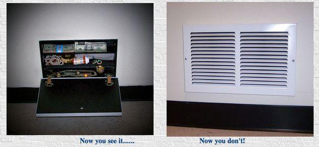 DIY Air Vent Vault Kit   22 Clever Hiding Places To Stash Your Stuff