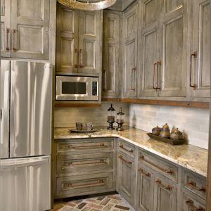 Kitchen Cabinets Upper Antique White Lower Knotty Alder