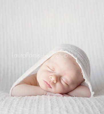 newborns in white