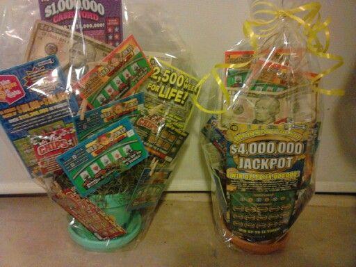 Basket state lottery ticket gift basket or raffle basket more