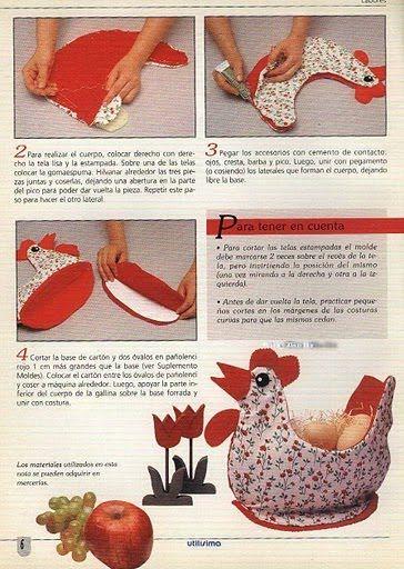 ღ~❤~ღTAGLIO E CUCIOღ~❤~ღ: cucito creativo....gallina portatutto