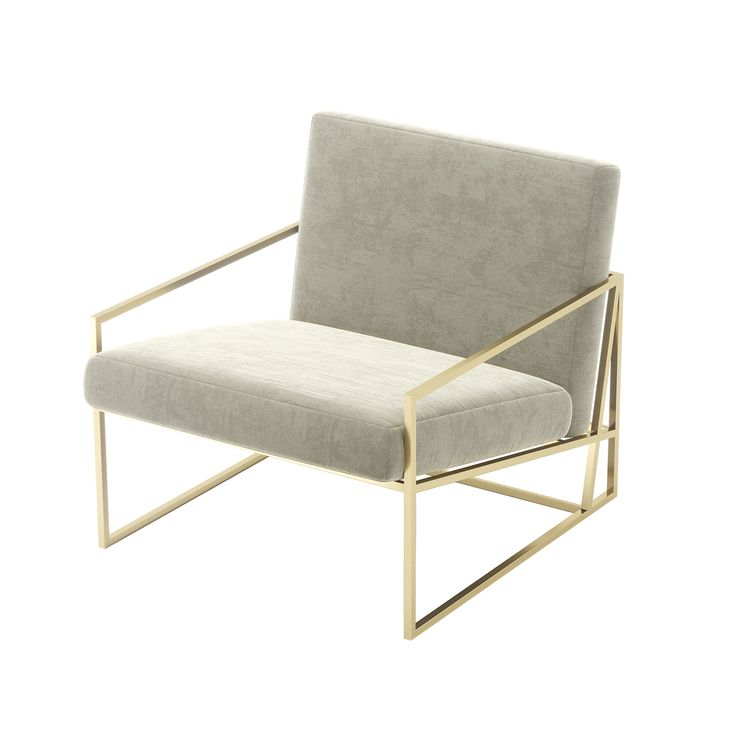 John Armchair - Living Room Decor - Laskasas | Decorate your Life | www.laskasas.com | John is a Morris Chair inspired armchair that will stun your interior design. Spacious and involved in fine materials, this mid-century design has a geometric structure in gold to give the luxury touch your living room needs.