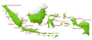Peta Indonesia | Sebutkan 5 Negera tetangga Indonesia