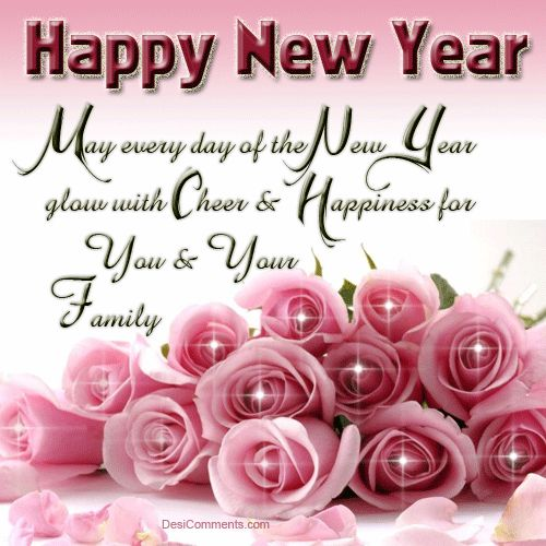 May every day of the new year glow with good cheer for you and your family