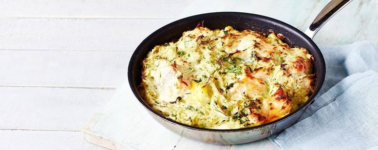 James Martin's fish and courgette rosti