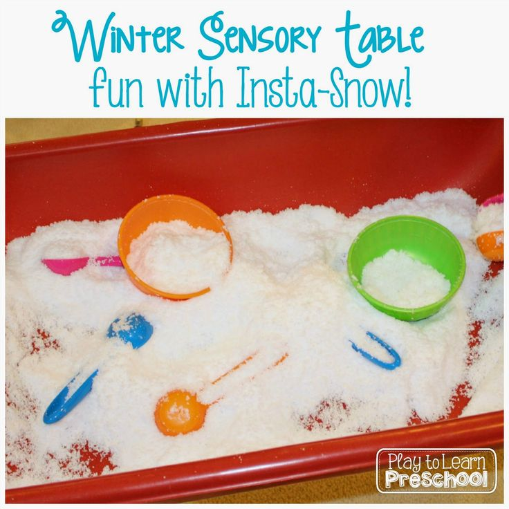 Insta-Snow Sensory Table from Play to Learn Preschool