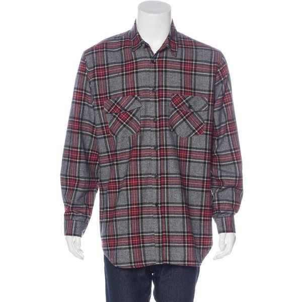 Pre-owned FOG Fear Of God 2016 Plaid Flannel Shirt (715 PLN) ❤ liked on Polyvore featuring men's fashion, men's clothing, men's shirts, men's casual shirts, red, mens tartan shirt, mens red plaid shirt, mens red flannel shirt, mens flannel plaid shirts and mens plaid shirts
