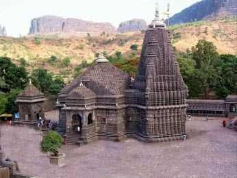 Located at the source of the Godavari River, Trimbakeshwar temple is a religious center having one of the twelve Jyotirlingas. The extraordinary feature of the Jyotirlinga located here is its three faces embodying Lord Brahma, Lord Vishnu and Lord Rudra.