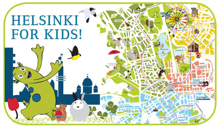 "New ""Helsinki for Kids"" illustrated map provides top tips for families. (c) Visit Helsinki"