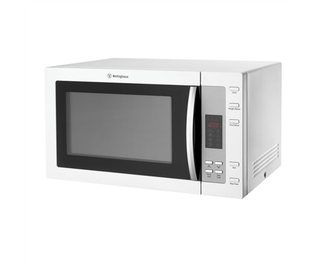 Westinghouse 900W white microwave with 8 auto cooking menus (model WMS281WF) for sale at L & M Gold Star (2584 Gold Coast Highway, Mermaid Beach, QLD). Don't see the Westinghouse product that you want on this board? No worries, we can order it in for you!