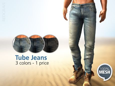 Mesh - Tube Jeans (for Boots) - REDGRAVE