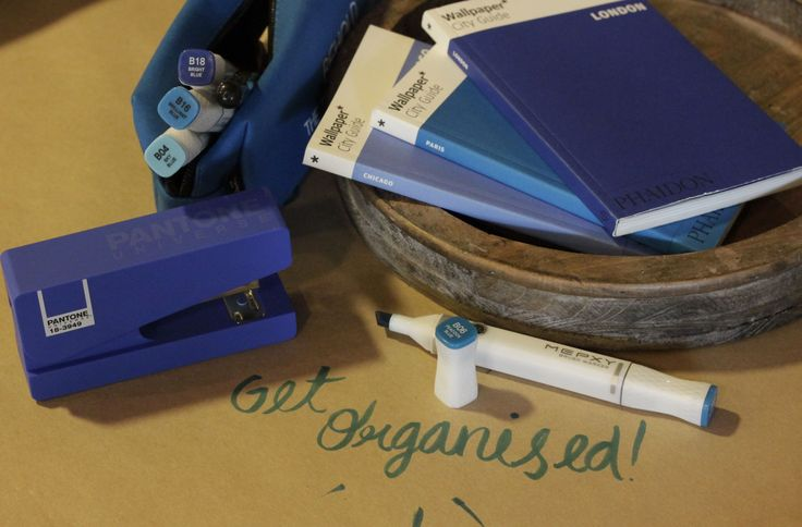 Being organised // Feat. Mepxy Markers, a Pantone Stapler and Wallpaper City Guides.