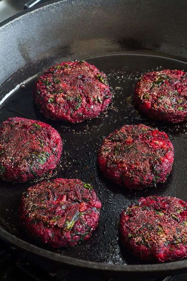 Beetroot has been all the rage this summer and these vibrant burgers are bringing the best of what the veg has to offer